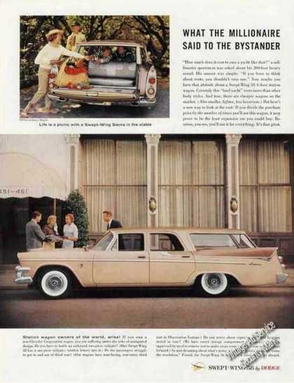 Dodge Swept-wing Sierra Station Wagon Photos (1958)