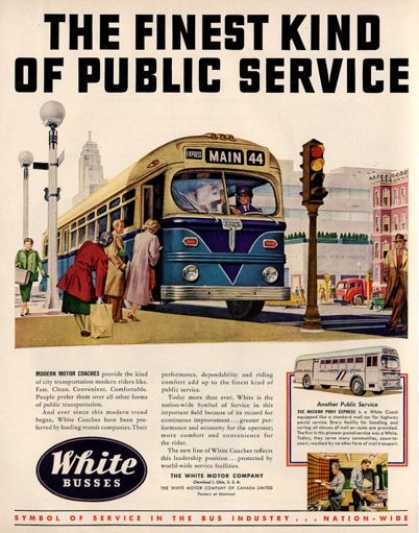 White Motor Co Bus Coach (1950)