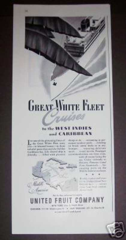 United Fruit Co Cruise Ship To Caribbean (1947)