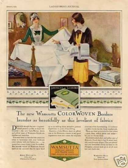 Wamsutta Percale Sheets (1929)