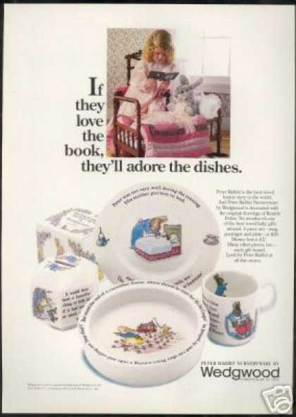 Wedgwood Peter Rabbit Nurseyware Dishes Photo (1978)