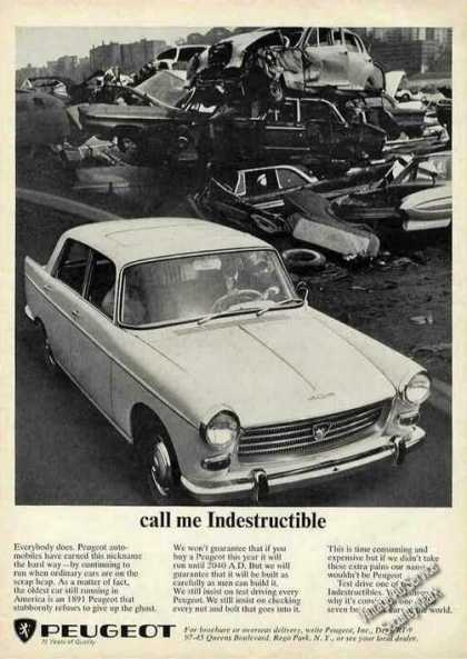 "Peugeot In Junkyard ""Call Me Indestructible"" (1965)"
