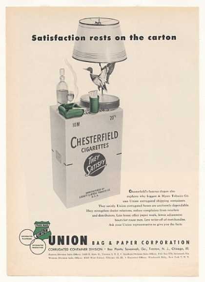 '55 Chesterfield Cigarette Union Bag Shipping Carton (1955)