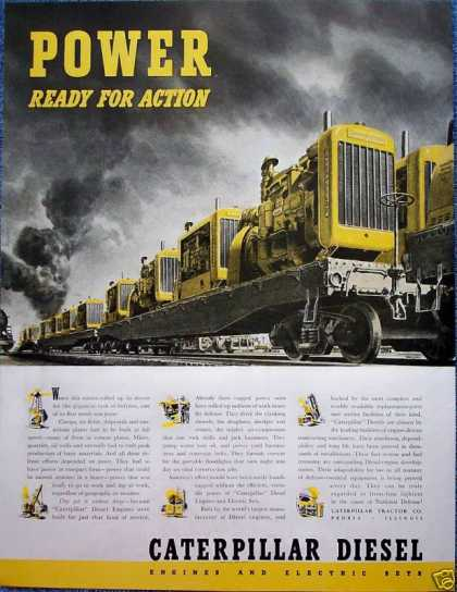 Caterpillar Tractors Train Power Ready For Action (1941)
