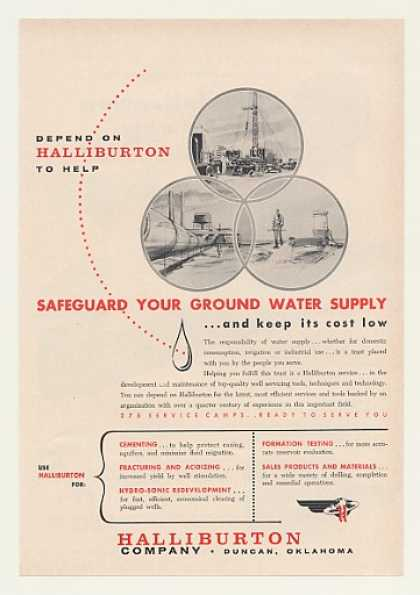 Halliburton Water Well Service Servicing (1960)
