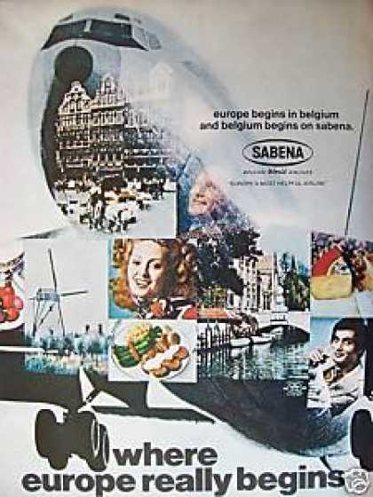 Sabena Belfian World Airlines (1969)