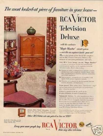 Rca Victor Deluxe Television Ad Clarendon (1952)
