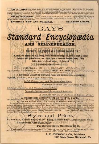 B. F. Johnson & Co.'s Gay's Standard Encyclopedia – Gay's Standard Encyclopedia and Self-Educator