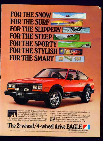 2 Wheel 4 Wheel Drive Eagle Fm American Motors (1983)