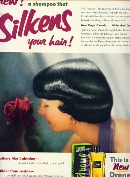 Drene Shampoo Silkens Your Hair C (1953)