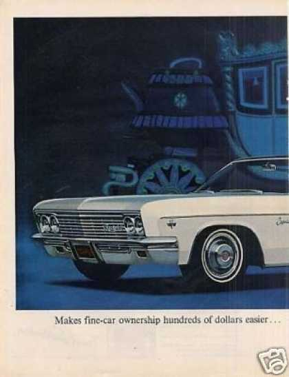 Chevrolet Caprice Custom Sedan Ad 2 Page (1966)