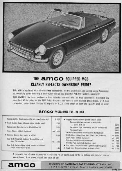 British Leyland's Amco MGB accessories (1964)