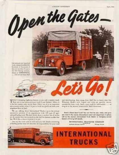 "International Truck Ad ""Open the Gates... (1940)"