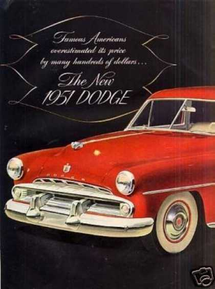 Dodge Car Ad Centerfold (1951)