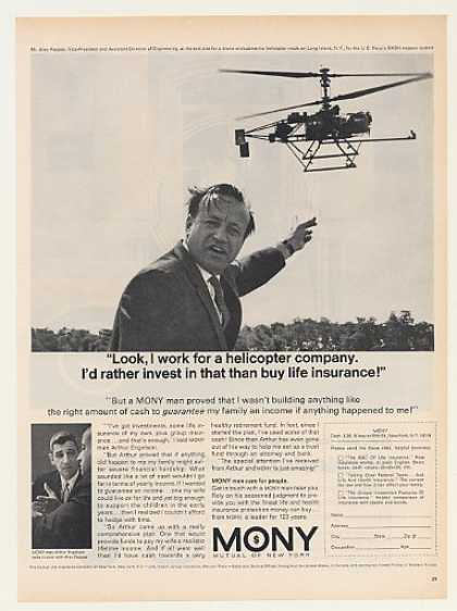 '66 Alec Pappas Navy Drone Helicopter MONY Insurance (1966)