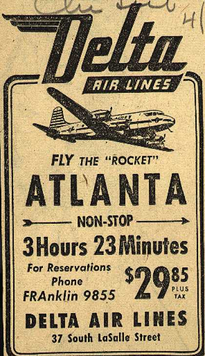 "Delta Airline's Atlanta – Fly the ""Rocket"" (1946)"