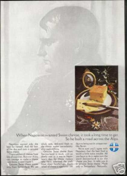 Napoleon Bonaparte Swiss Cheese Switzerland (1968)