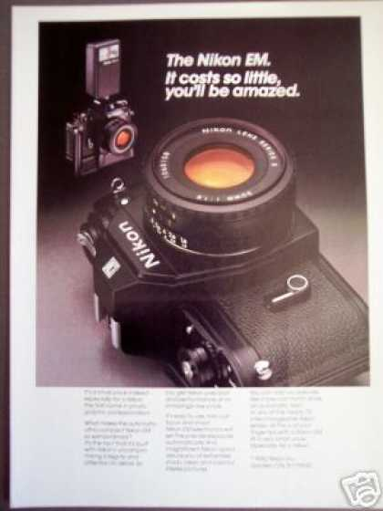 Nikon Em 35mm Film Slr Camera Photo (1980)