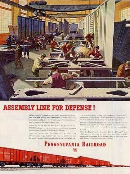 "Pennsylvania Railroad Ad ""Assembly Line For... (1951)"