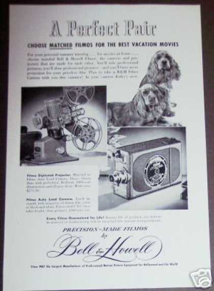 Bell & Howell Filmo Movie Camera & Projector (1949)