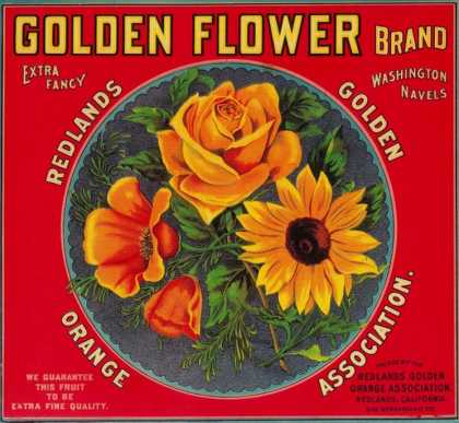 Golden Flower Orange Label – Redlands, CA