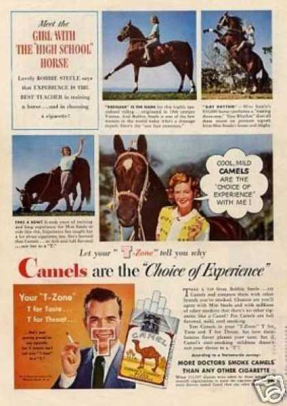 "Camel Cigarettes Ad ""Girl With the High School.. (1948)"