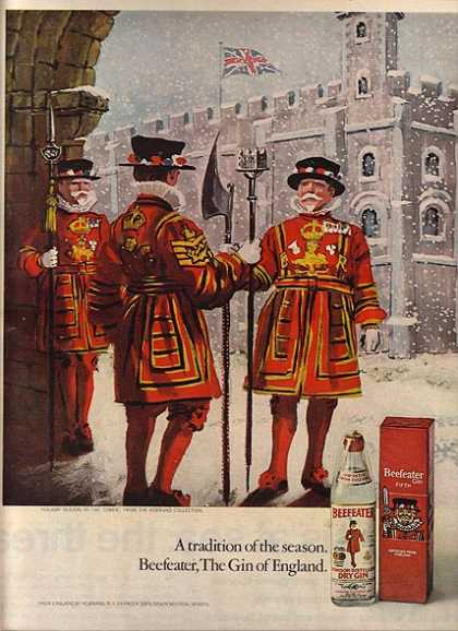 Beefeater's London Distilled Dry Gin (1971)