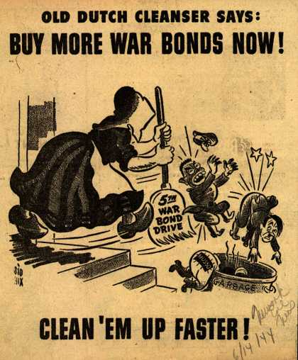 Old Dutch Cleanser's 5th War Bond Drive – Buy More War Bonds Now (1944)