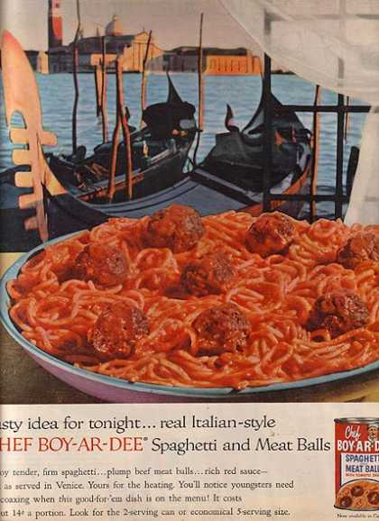 Chef Boy-Ar-Dee's Spaghetti and Meat Balls (1958)
