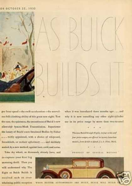 Buick Car Color Ad Centerfold (1931)