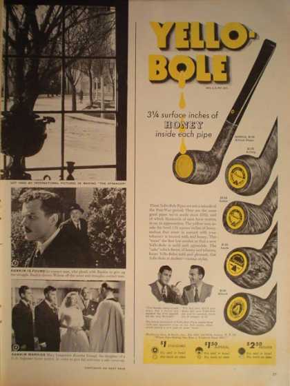 Yello Bole Smoking Pipe (1946)