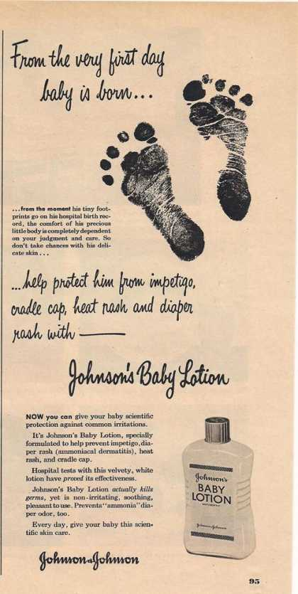 Johnsons Baby Lotion (1951)