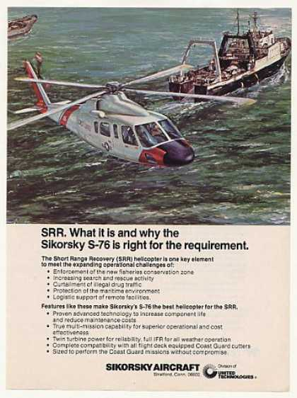 Coast Guard Sikorsky S-76 SRR Helicopter (1977)