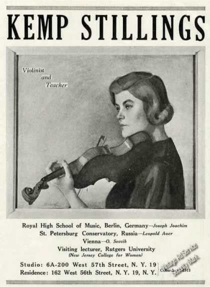 Violin Teacher Kemp Stillings Photo Trade (1947)