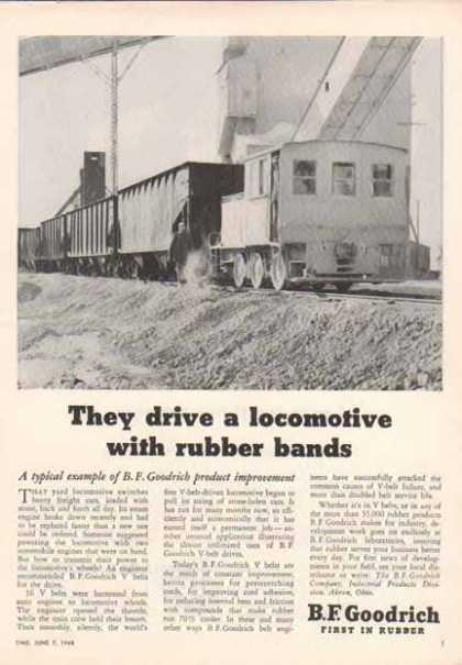 B.F. Goodrich – Locomotive with Rubber Bands (1948)