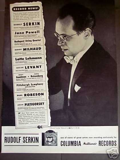 Rudolf Serkin Photo Columbia Masterworks Record (1946)
