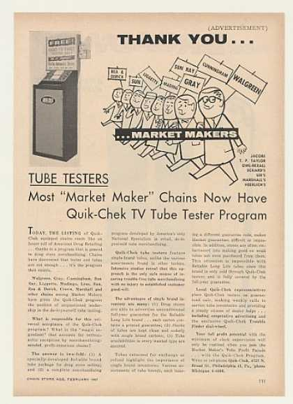 Quik-Chek TV Tube Tester (1957)