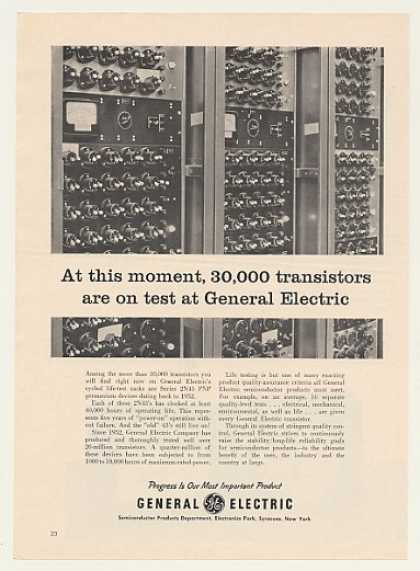 GE Series 2N43 PNP Transistors Test Rack (1960)