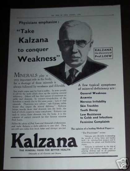 Kalzana Minerals for Weakness Medicine (1936)