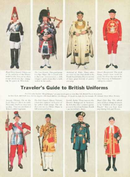 Travelers Guide To British Uniforms Travel (1959)