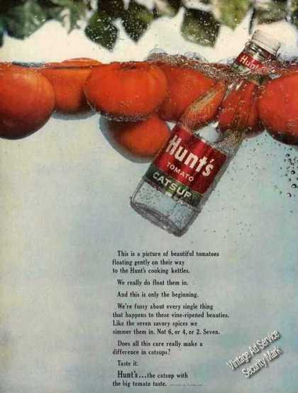 Hunt's Tomato Catsup Floating In Water (1963)