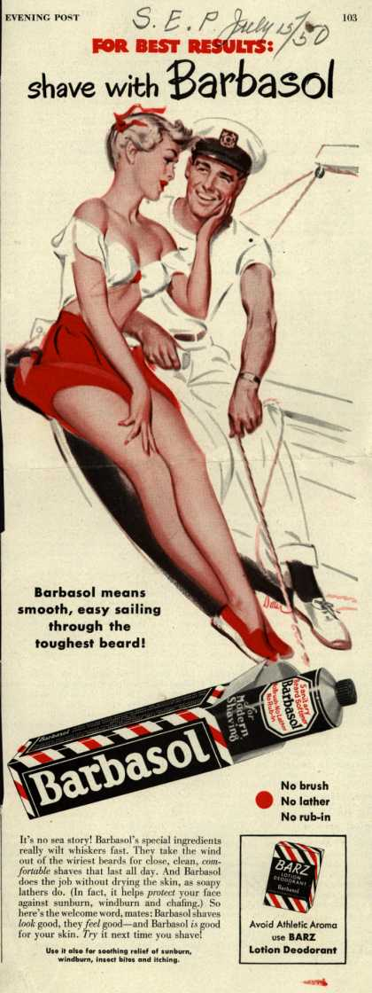 Barbasol – For Best Results: shave with Barbasol (1950)