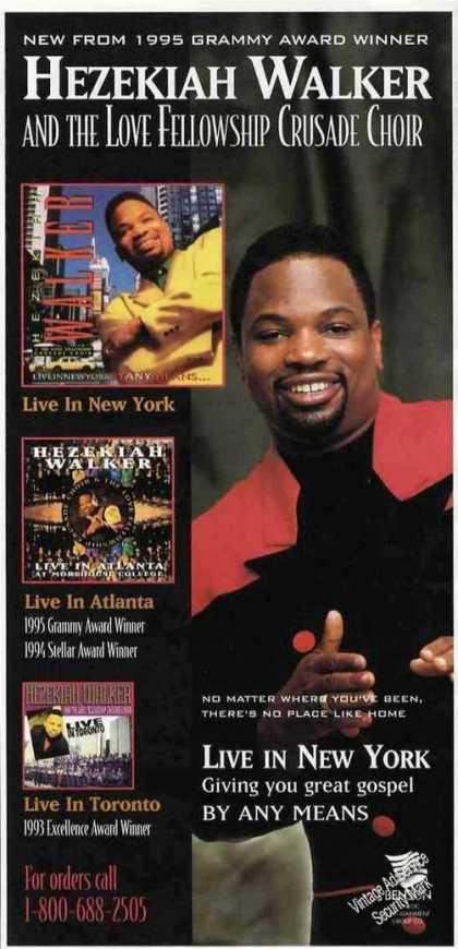 Hezekiah Walker Photos Gospel Music (1995)