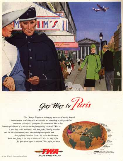 Trans World Airline's Paris – Gay Way to Paris (1947)