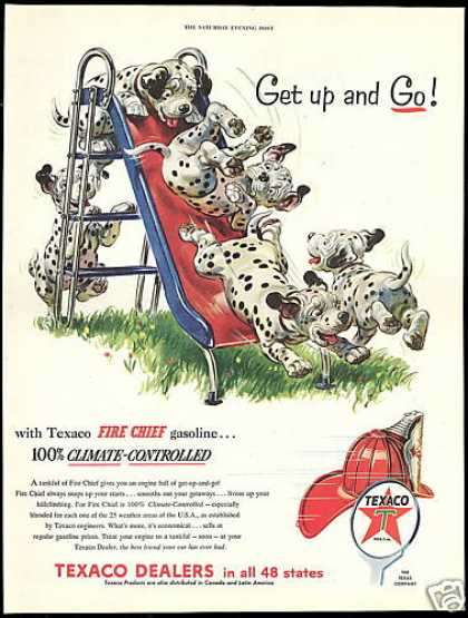 Dalmatian Dog Puppies Slide Texaco Gas Dealers (1954)