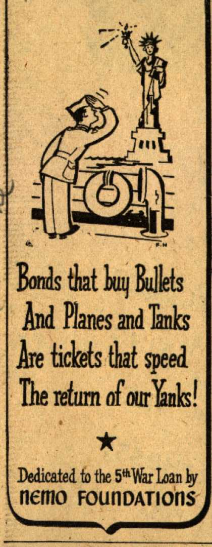 Nemo Foundation's 5th War Loan – Bonds that buy Bullets (1944)