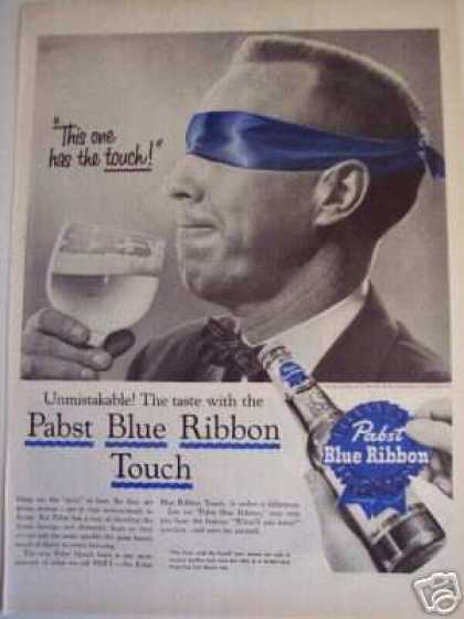 Pabst Beer Blue Ribbon Blindfold Test Pbr (1956)