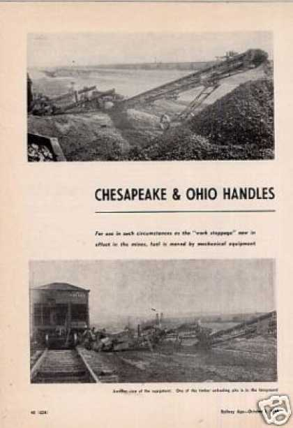 """C&o Handles Emergency Coal With Conveyors""Artic (1949)"