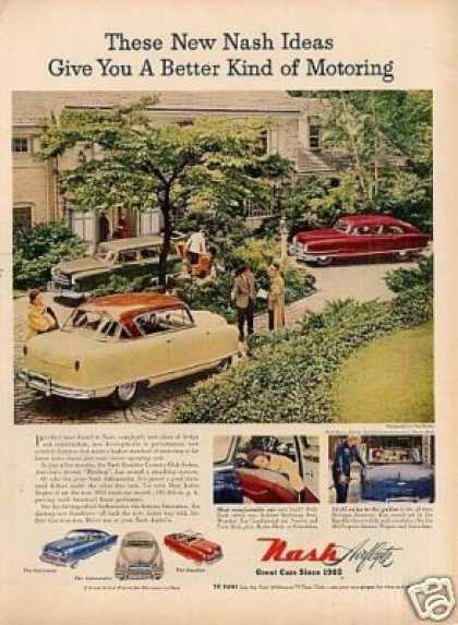 "Nash Cars Ad ""These New Nash Ideas... (1951)"