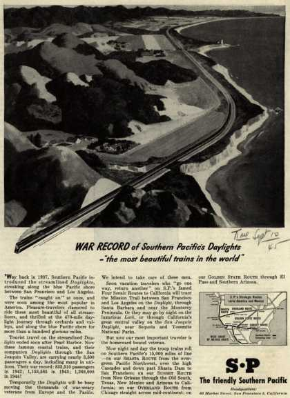 Southern Pacific – War Record of Southern Pacific's Daylights (1945)